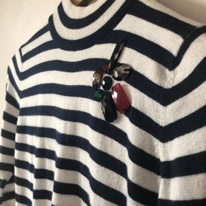 Zara Tops - Zara Top- Knit striped crop top with jewel detail